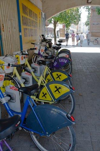 Jumble of bikes near the Technical University